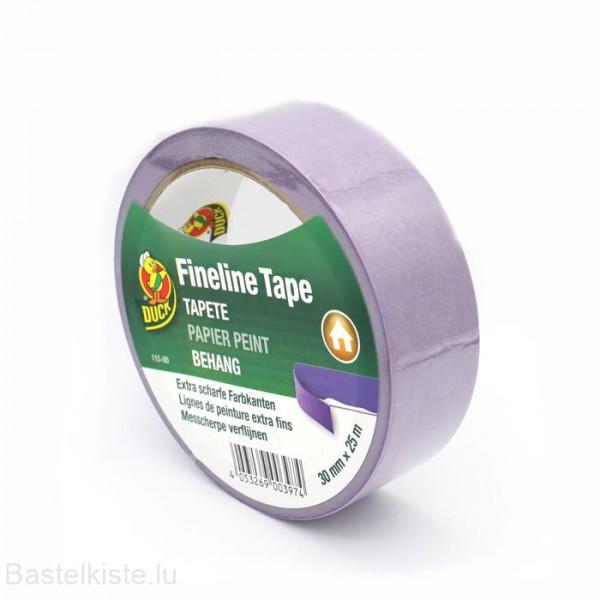 Fineline Tape für empfindliche Oberflächen, Malerklebeband Ø 30mm, 25 m