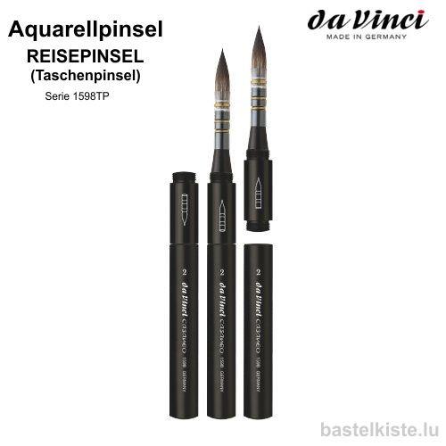 Taschenpinsel, Reisepinsel CASANEO Verwaschpinsel & Aquarellpinsel rund Serie 1598