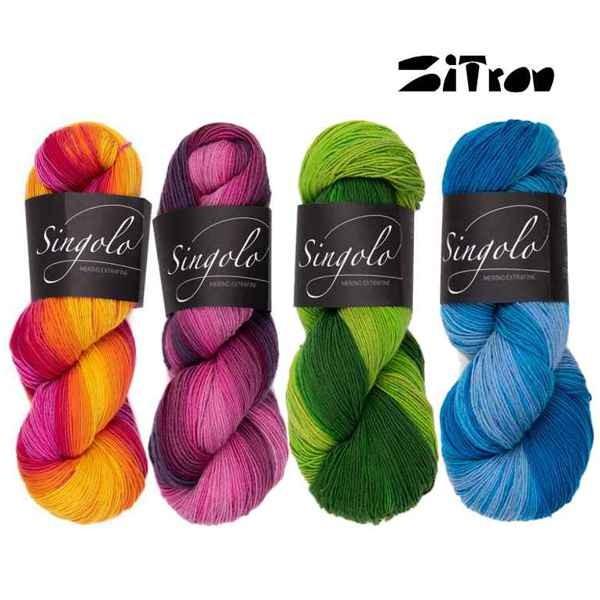 Atelier Zitron SINGOLO 100g ✓ 100% Schurwolle ✓ Große Auswahl ✓ schnelle Lieferung ✓ Versandkostenfrei ab 20€ DE, LU ✓ große Kundenzufriedenheit