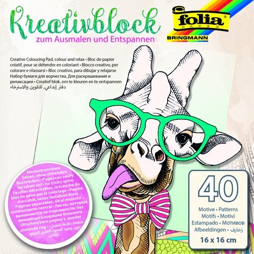 Ausmalblock, Ausmalbuch, Kreativblock 16x16cm