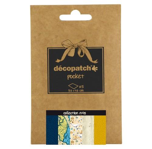 décopatch Papier, collection No.15, 30x40cm, 5 Blatt