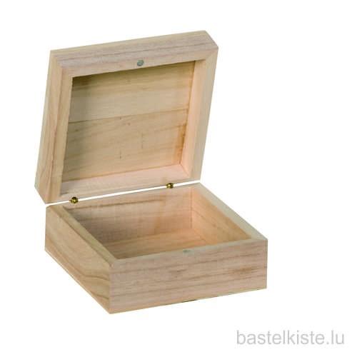 Holzkästchen mit Magnetverschluss 10x10x5 cm