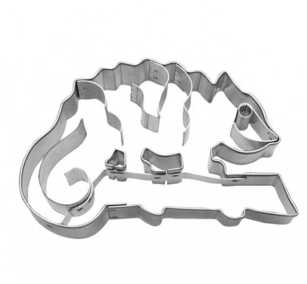 Präge-Ausstechform Chamäleon 7 cm aus Edelstahl