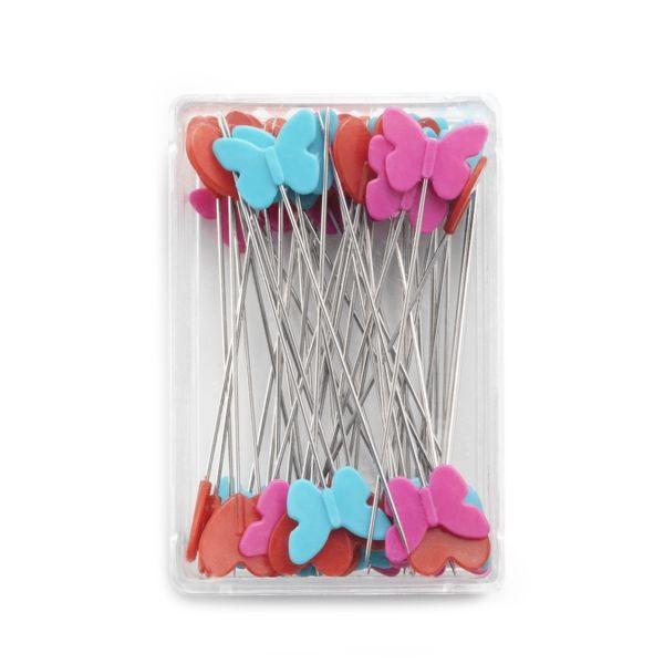 Schmetterlings- Herz-Stecknadeln flach 0,60 x 50mm PRYM 028521