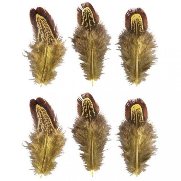 Federn 5-10cm, 6 Stück, sonnengelb