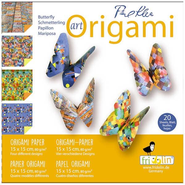 "Origami Faltblätter 80g/m² 15x15cm - 20 Blatt ""Klee"""