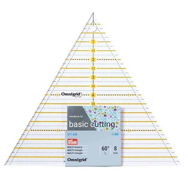Patchwork-Lineal 60° Dreieck Multi 8 inch PRYM 611658