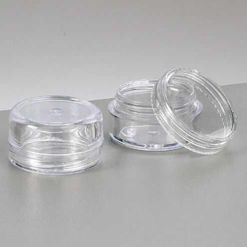 Kunststoffdose ø 3,0 cm x 1,7 cm glaskla, rund 10 Stk.