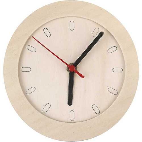 Uhrwerk mit Holz-Ziffernblatt Ø 15 cm