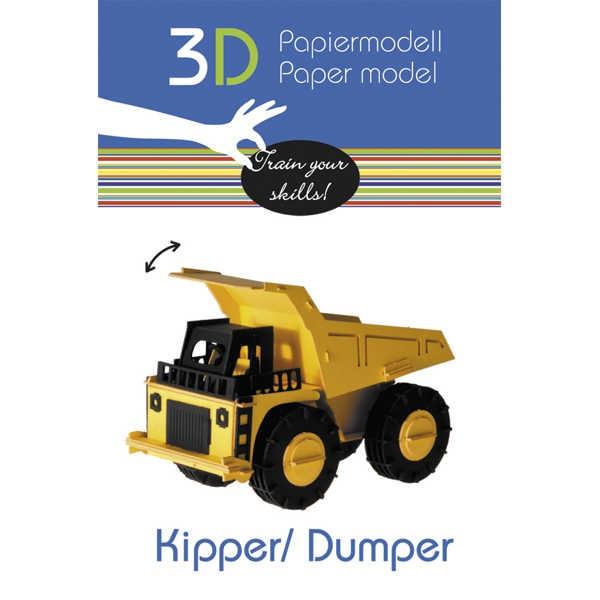 """3D Papiermodell """"Kipper"""" zum zusammenbauen"""