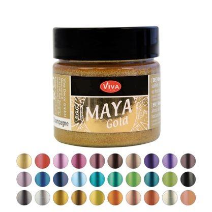 Maya-Gold 45ml Effektfarbe metallisch-schimmernd