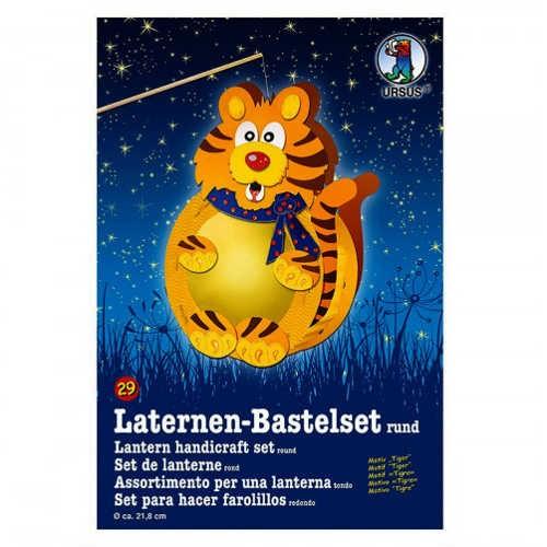 Laternen-Bastelset rund Ø 218mm, Tiger