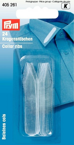 Kragenstäbchen Kunststoff 10x55mm transparent PRYM 405261 wollzauber.com