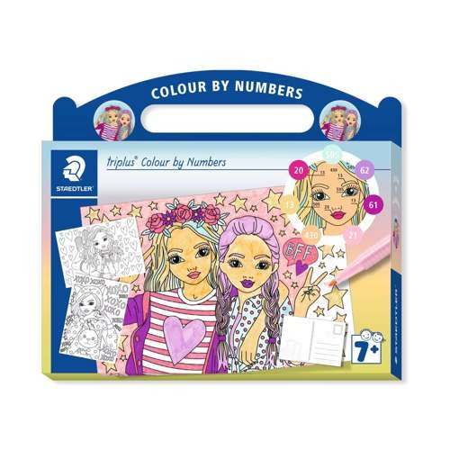 "Kartonkoffer triplus Colour by Numbers ""Freunde"""
