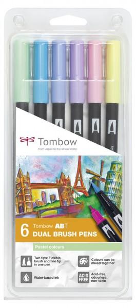 ABT DUAL BRUSH PENS 6er Set Pastel Colours