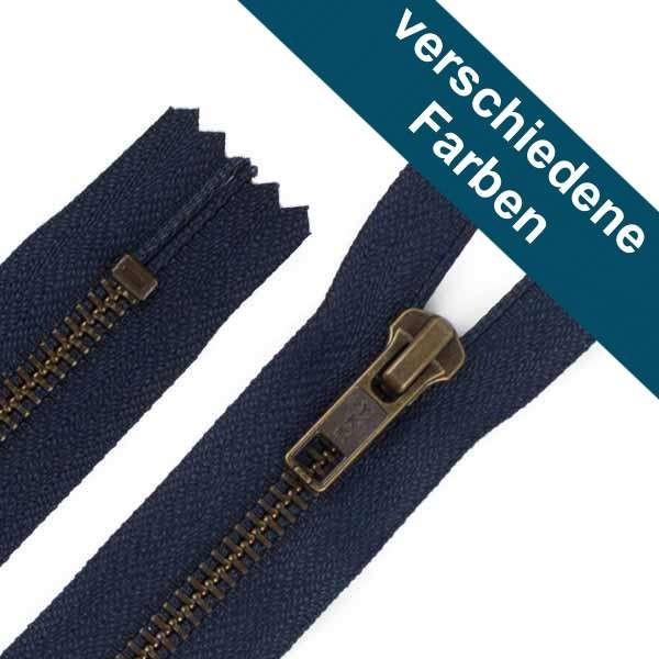 14 cm Hosen Antik Messing Reißverschluss Metall
