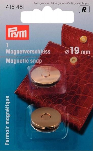 Magnetverschluß 19mm goldfarbig PRYM 416481