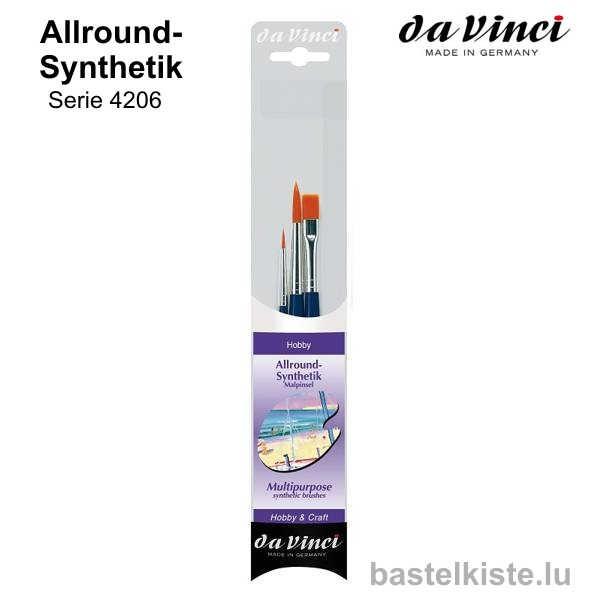 Da Vinci Allround-Synthetik Pinsel-Set 4206