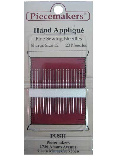 Quilting Piecemakers Handapplique - Fine Sewing Needles