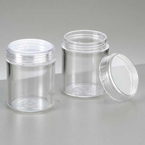 Kunststoffdose ø 3,9 cm x 4,9 cm glaskla, rund 10 Stk.