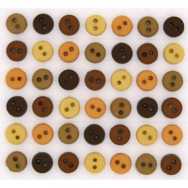 Dress it up Knöpfe, Tiny Natural Buttons 40-tlg. wollzauber.com