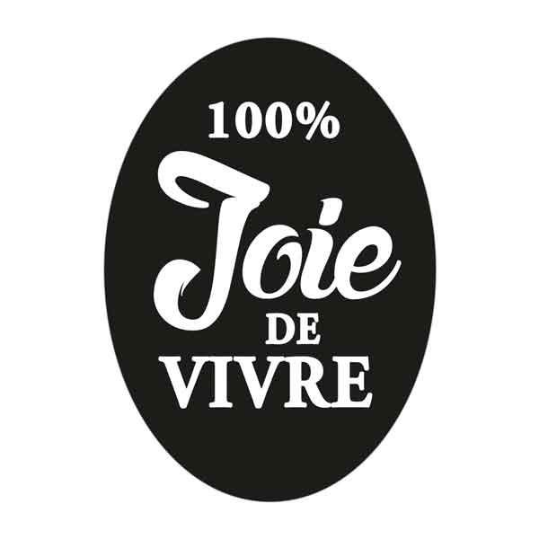 """RAYHER Seifenlabel """"100% Joie de vivre"""""""