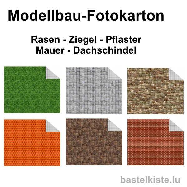 Fotokarton 300g/m² für Modellbau in DIN A4