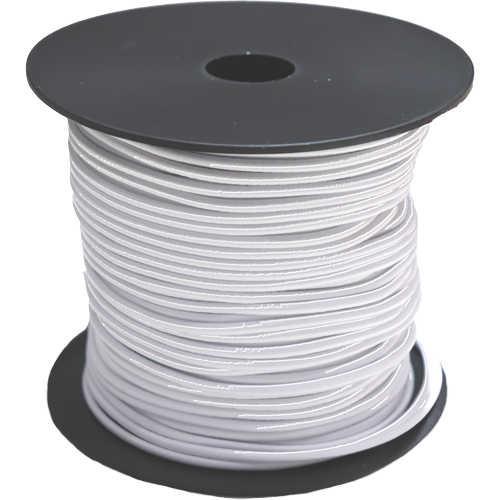 Elastic Rundgummi Meterware Zuschnitt Ø 3 mm weiß