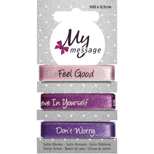 "My Message Satin Bänder ""Feel Good"""