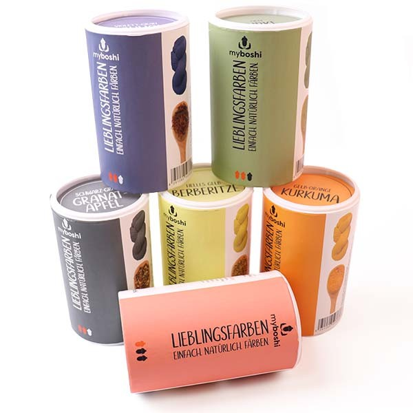 Mit Naturprodukten Färben ✓ LIEBLINGSFARBEN von myboshi ✓ 6 verschiedene Farbtöne ✓ Natürlich Färben ✓ Versandkostenfrei DE / LU (ab 20€)