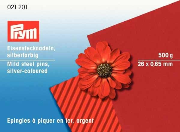 PRYM Eisenstecknadeln 26 x 0,7 mm, 500g vernickelt