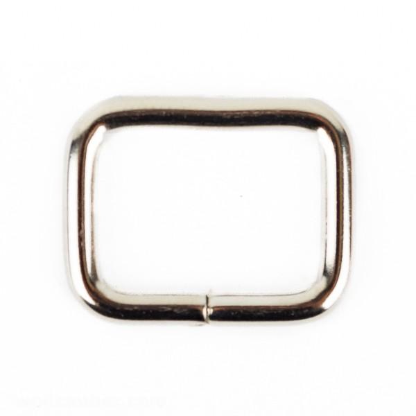 Vierkantringe aus Stahl, vernickelt