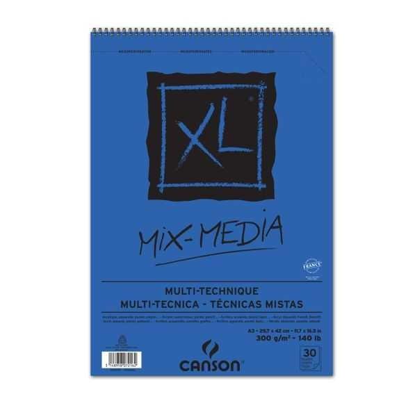 XL-Mix-Media Spiralblock 300g/m² - verschiedene DIN-Formate