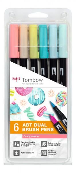 ABT DUAL BRUSH PENS 6er Set Candy Colours