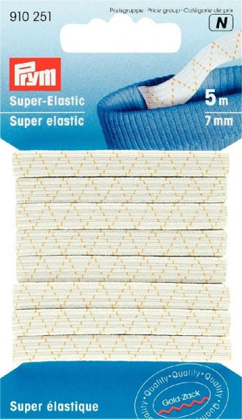 Super-Elastic 7mm weiß PRYM 910251