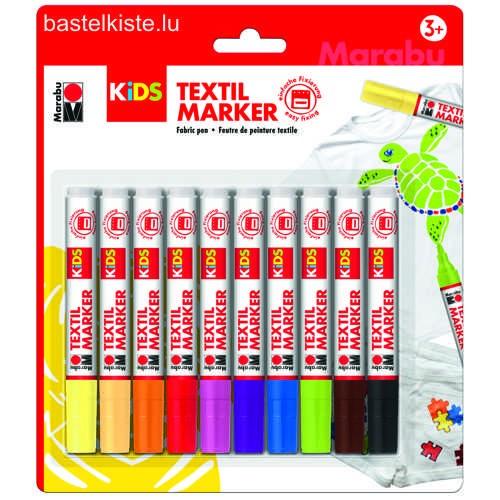KIDS Textil Marker, Textilstifte 10er Set
