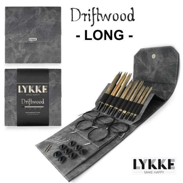 LYKKE DRIFTWOOD Interchangeable Circular Knitting Needle Set, Rundstricknadel LONG