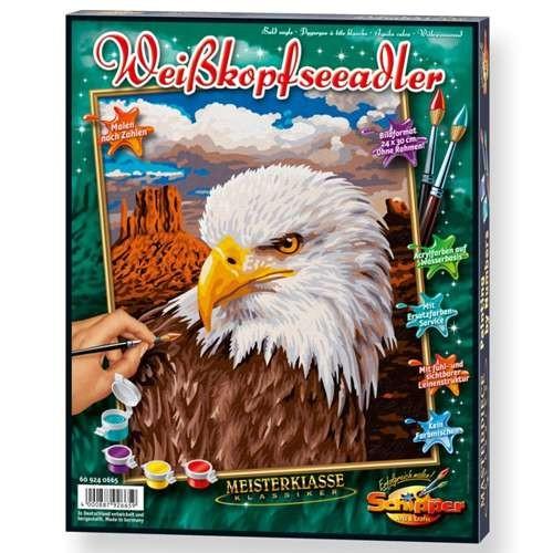 """Malen nach Zahlen """"Weißkopfseeadler"""" 24 x 30 cm"""