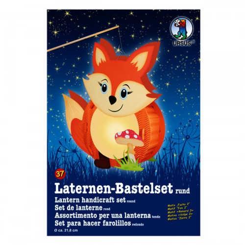 Laternen-Bastelset rund Ø 218mm, FUCHS 2