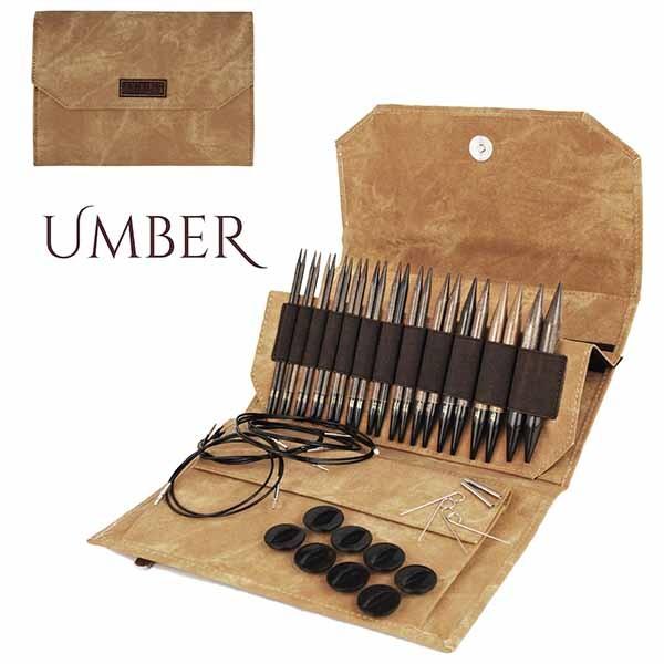 LYKKE Rundstricknadel-Set UMBER 5-inch Nadel Stricknadel Holzstricknadeln