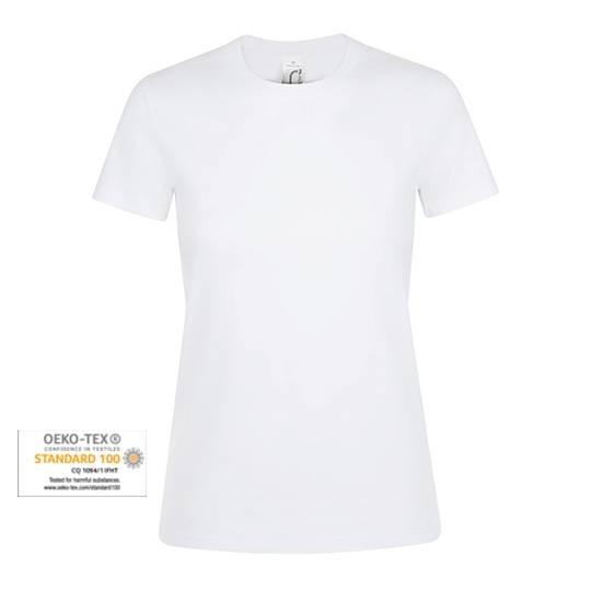 Rundhals Frauen T-shirt SLIM weiß
