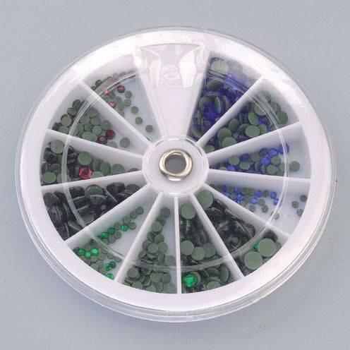 Strass Steine zum Aufbügeln im Set lila, blau, grün