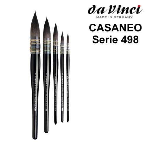 CASANEO Aquarellpinsel & Verwaschpinsel, Serie 498