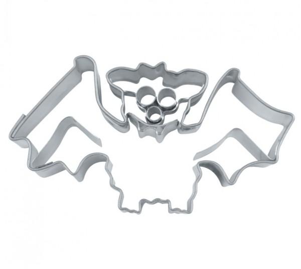 Präge-Ausstechform Fledermaus 6 cm aus Edelstahl
