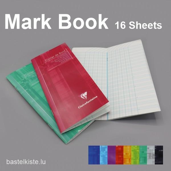 Klassenbuch, Noten-/ Punkteheft, in verschiedenen Farben