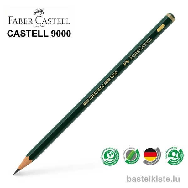Castell 9000 Bleistifte einzeln 8B bis 6H