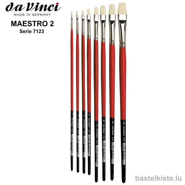Da Vinci Öl & Acrylmalpinsel MAESTRO 2, flach
