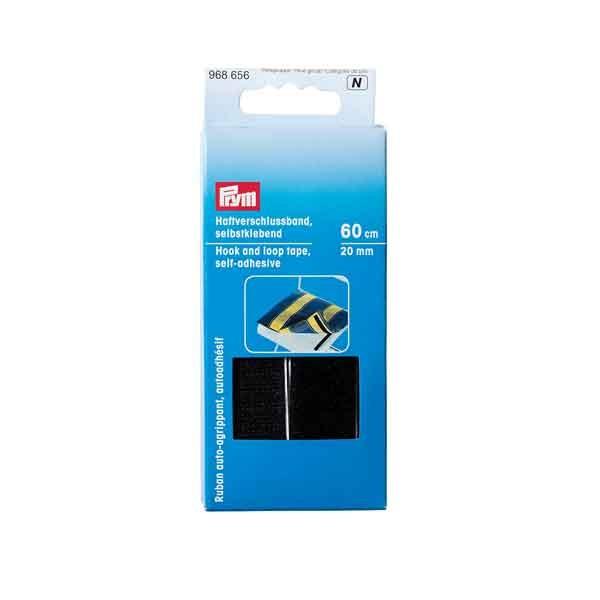 PRYM Haftverschlussband sebstklebend, 20mm, Schwarz