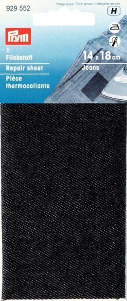 PRYM 929552 Flickstoff Jeans bügeln12x45cm schwarz