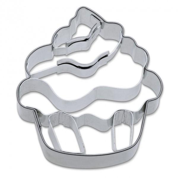 Präge-Ausstechform Cupcake 5,5 cm aus Edelstahl